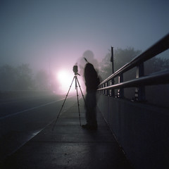 (patrickjoust) Tags: county street bridge usa color 120 6x6 tlr film fog night analog america dark square lens person photography anne lights us reflex md focus long exposure fuji photographer mechanical united release tripod north patrick twin maryland cable andrew mat v 124g figure epson after medium format states tungsten manual 500 expired 80 joust yashica arundel aac estados mangum 80mm f35 fujicolor c41 unidos npl yashinon v500 160t autaut patrickjoust