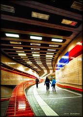 Life Underground (Jeff_B.) Tags: cambridge lines boston architecture modern america underground subway design university metro harvard curves newengland harvardsquare massachusettsavenue redlines