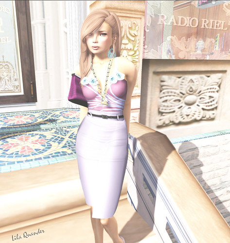 *LpD* - *Diana* Skirt - Lilac & *Shy* top -Pink