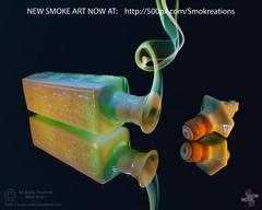 A Journey with Jim Beam (Smoke Art #???) (Psycho_Babble) Tags: abstract reflection mirror bottle smoke incense jimbeam smokeart smokephotography smokephoto smokreation