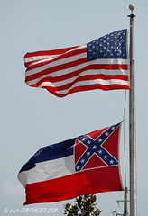 US Flag and Mississippi Flag