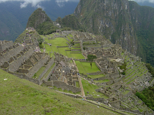The Central Plaza and the Agricultural Terraces at Machu Picchu