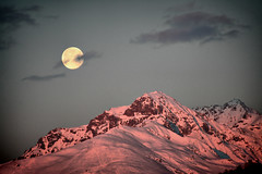 Sunrise  & Full Moon (! .  Angela Lobefaro . !) Tags: trip travel blue schnee winter vacation italy panorama moon snow mountains alps cold castle pine architecture night clouds lune sunrise landscape dawn mond countryside interestingness bravo italia nuvole nacht quality hiver nieve country luna fullmoon bleu explore campagna piemonte pines neve moonlight neige alpen chateau nuages schloss castello piedmont 2009 freddo notte castillo allrightsreserved burg italians tannenbaum lluna pini valdengo firstquality mondlicht chiarodiluna i500 cesvi castellodivaldengo holidaysvacanzeurlaub angiereal travelerphotos maxgreco angelalobefaro angelamlobefaro wwwcesviorg angelamarialobefaro massimilianogreco