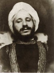 A photograph by David Wilkie Wynfield of Solomon in oriental costume.