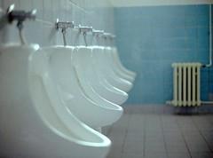urinals (MrLightyear) Tags: blue white film toilet om urinal urinals om1 fujipro