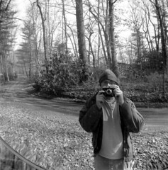 Mirror in the woods (robin dreyer) Tags: selfportrait zeissikon convexmirror
