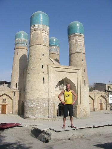 Fotogeniek Chor Minar en toerist