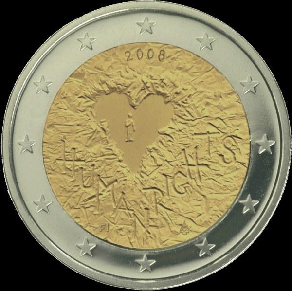 2 Euro Fínsko 2008, ľudské práva