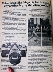 Olympus OM1 advert from 1975