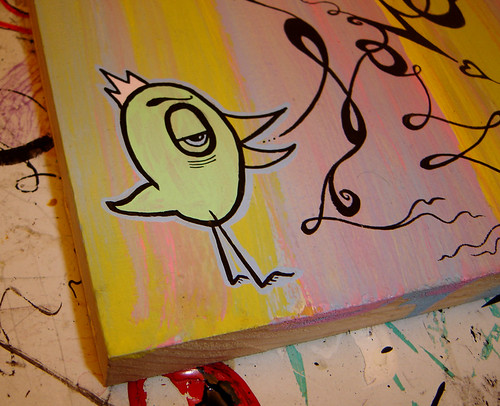 in progress of lovesick bird