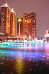 in Taiwan Kaohsiung .  . 2009 TAIWAN DSC_5453 (Ming - chun ( very busy )) Tags: light reflection water night river nikon skyscrapers nightshot d70 taiwan    soe        platinumphoto anawesomeshot