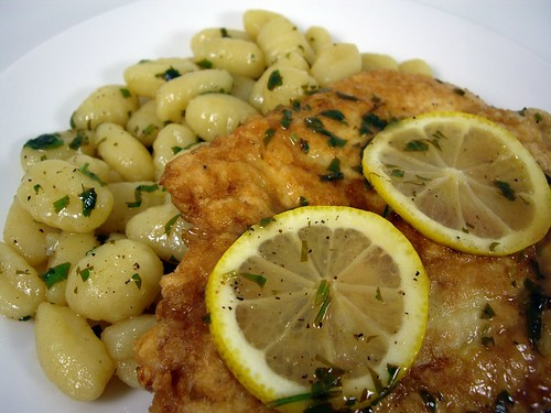 Chicken Francaise and Gnocchi