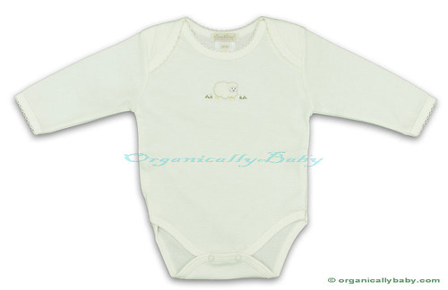 Organic Baby Clothes: Organic Pima Cotton Layette Onesie from Kissy Kissy