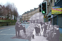 then in now clarkston road (Dave S Campbell) Tags: street old monkey glasgow entertainment present southside then now past tenement cathcart
