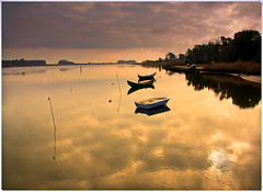 So Jacinto (r.batista) Tags: reflection portugal water clouds river landscape boat dusk aveiro sojacinto aplusphoto ilustrarportugal srieouro flickrlovers