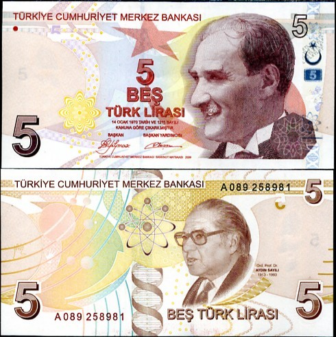 TURKEY 5 LIRA TL 1.1.2009