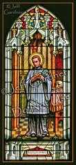 St. Aloysius Gonzaga (*Jeff*) Tags: church window saint skull catholic stainedglass lilies northdakota whip crucifix cando aloysiusgonzaga