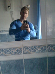 Old Sweater (The Muscle Hacker) Tags: food man pecs bathroom sweater big mark pack jumper weightlifting hack diet tight workout biceps six ams iphone triceps massivemuscle musclehack