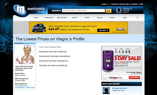 Metromix Viagra Spam