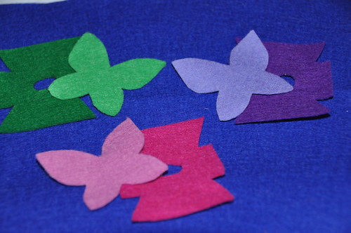 Felt fairy clothes and wings