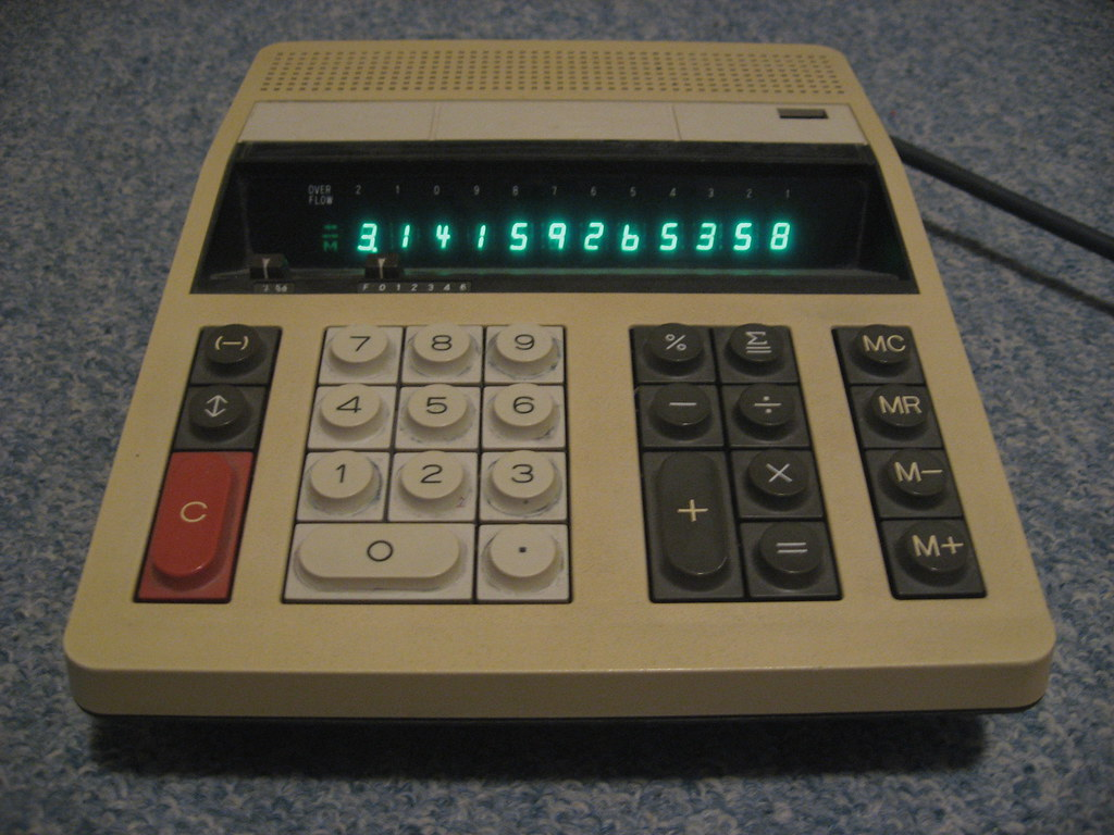 Ricoh mains powered calculator