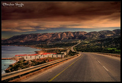 It's a Long, Long Road ! (Bashar Shglila) Tags: road sea mountains beach its long libya ras  libyen     lbia hlal libi darnah libiya liviya libija        lbija  lby libja lbya liiba livi   ibia