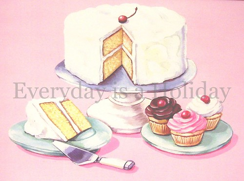 """Old Fashioned Desserts"" matted ready to frame print"