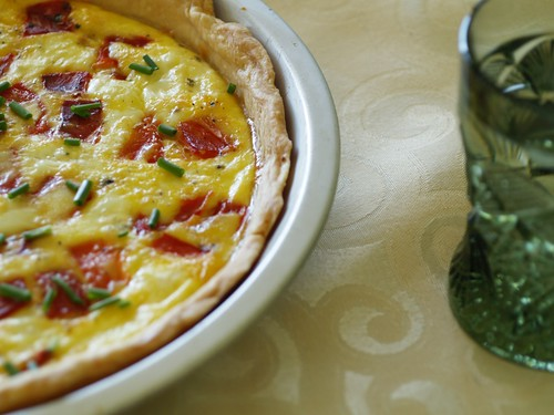 Red Pepper and Feta Quiche