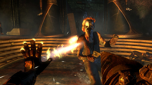 BioShock 2 Screenshot 3 - Flame On!
