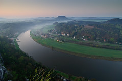 Morning Light over Saxony (Xindaan) Tags: morning mountains nature river germany landscape geotagged deutschland nationalpark nikon sandstone bravo saxony natur tokina berge sachsen 28 fluss landschaft fortress morgen sandstein 2009 soe mesa elbe bastei manfrotto tafelberg festung lilienstein schsischeschweiz rathen d300 elbsandsteingebirge saxonswitzerland 1116 outstandingshots 460mg abigfave knigsstein 055mf4 an