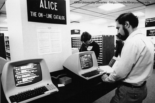 Ohio University's Alden Library Alice Catalog, 1983