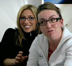 Kate and Lorraine from The Apprentice 2009 (GwG Fan) Tags: glasses kate bbc screencap ok lorraine theapprentice tvcap katewalsh oktv channel5presenter