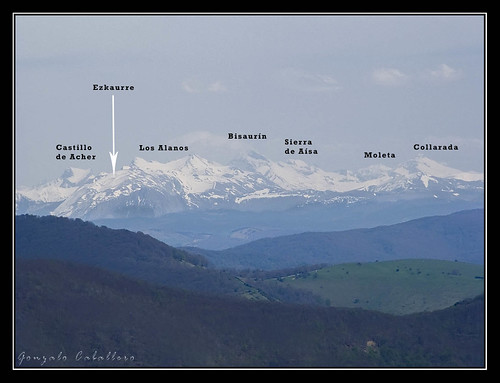 Algunas cumbres pirenaicas desde el Eguide
