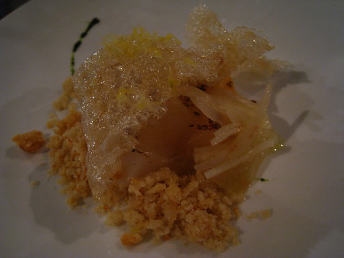 Scallop with Tendon, Endive, Parsley & Hazelnut Oil (2)