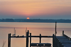 the Choptank River near Trappe at sunrise (by: choosymutha/andis, creative commons license)