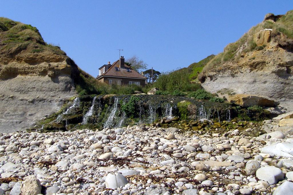 Beach cascade at Osmington Mills