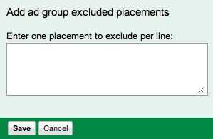 AdWords Exclusion Feature