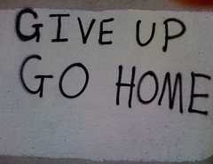 give up go home