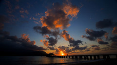 Hanalei Sunset (actionfoto) Tags: sunset clouds hawaii kauai hanaleipier canon5d hanalei canon1740mm
