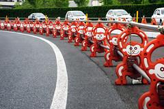 Monkey Barricade (Bracus Triticum) Tags: japan monkey construction 日本 barrier fukuoka kyushu barricade satsuki 九州 iizuka 飯塚市 福岡県 さつき 筑豊 chikuhō