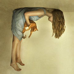 alice (brookeshaden) Tags: selfportrait wall dress upsidedown alice kitty ceiling muah valerie fyona nomnom brookeshaden