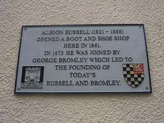 Photo of Albion Russell grey plaque