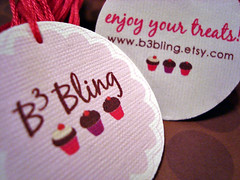 b3bling double-sided hang tags