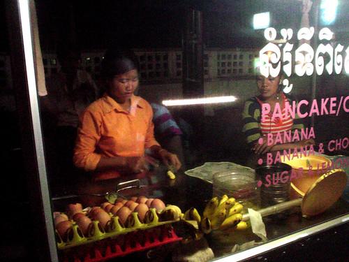 58.賣香蕉鬆餅的小販