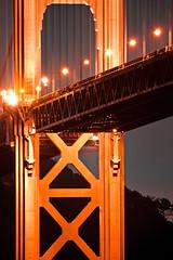You Tower Over Me (ohad*) Tags: sf sanfrancisco california ca longexposure bridge red orange black night lights goldengatebridge goldengate ohad 50d ohadonline canon50d ohadme