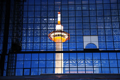 Reflections, Kyoto tower on Kyoto station, Japan (fabriziogiordano23) Tags: travel tower station japan night reflections kyoto asia torre reflexions riflessi stazione viaggio soe notte giappone vacanze kyototower autofocus kyotostation wow1 blueribbonwinner flickr beautifulphoto abigfave enstantane platinumphoto flickraward flickrestrellas flickrbestpics flickrlovers mallmixstaraward artofimages uniqueaward theamazingphotogroup ringexcellence flickrstruereflection1 clickx