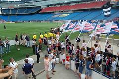 Teams entering the stadium