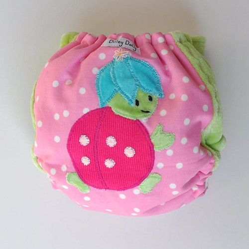 Custom Bug Diaper for baby Leah