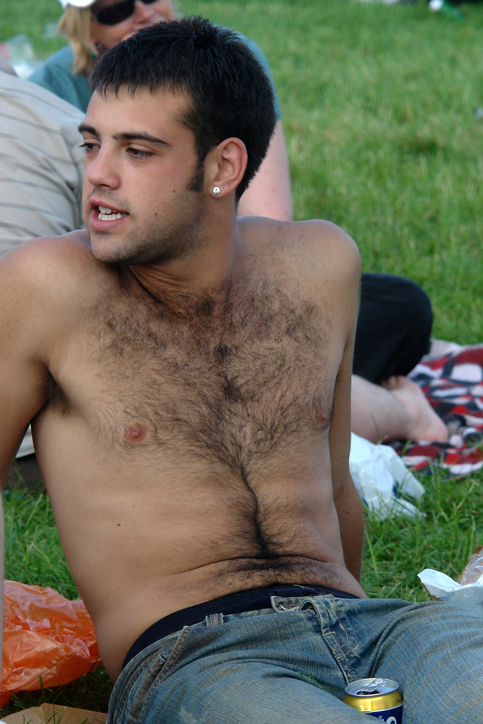 Confirm. Young very hairy chested men still