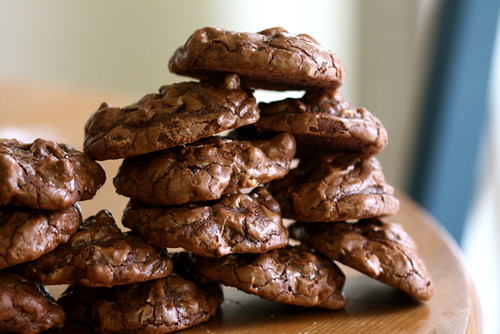 Dark Chocolate, Walnut and Golden Raisin Cookies